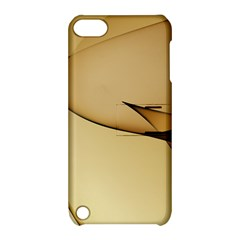Edge Gold Wave Apple Ipod Touch 5 Hardshell Case With Stand