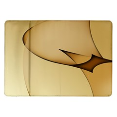 Edge Gold Wave Samsung Galaxy Tab 10 1  P7500 Flip Case
