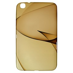 Edge Gold Wave Samsung Galaxy Tab 3 (8 ) T3100 Hardshell Case  by Alisyart