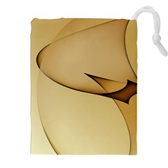 Edge Gold Wave Drawstring Pouches (xxl) by Alisyart