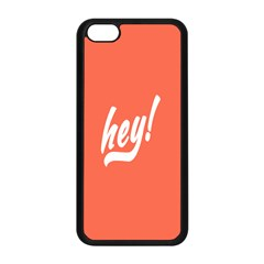 Hey White Text Orange Sign Apple Iphone 5c Seamless Case (black)
