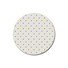 Green Spot Jpeg Rubber Round Coaster (4 Pack)  by Alisyart