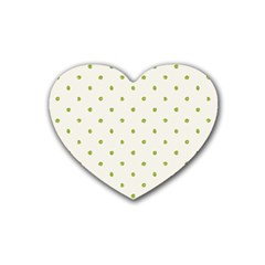 Green Spot Jpeg Rubber Coaster (heart)  by Alisyart