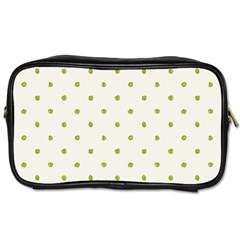 Green Spot Jpeg Toiletries Bags 2 Side by Alisyart