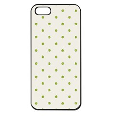 Green Spot Jpeg Apple Iphone 5 Seamless Case (black)
