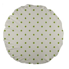 Green Spot Jpeg Large 18  Premium Round Cushions by Alisyart