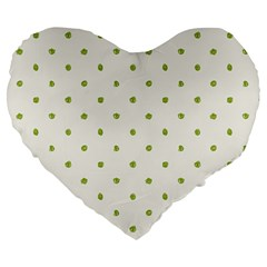 Green Spot Jpeg Large 19  Premium Heart Shape Cushions by Alisyart