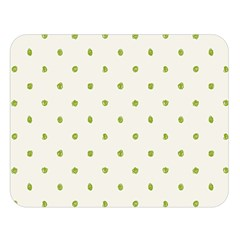 Green Spot Jpeg Double Sided Flano Blanket (large)  by Alisyart