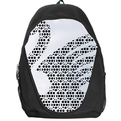 Honeycomb Swan Animals Black White Plaid Backpack Bag