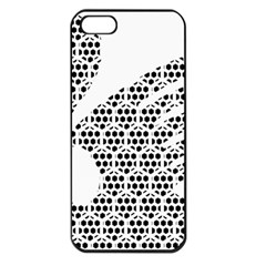 Honeycomb Swan Animals Black White Plaid Apple Iphone 5 Seamless Case (black)