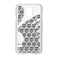 Honeycomb Swan Animals Black White Plaid Samsung Galaxy S5 Case (white)