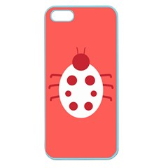 Little Butterfly Illustrations Beetle Red White Animals Apple Seamless Iphone 5 Case (color)