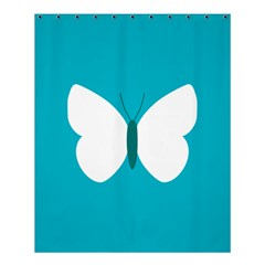 Little Butterfly Illustrations Animals Blue White Fly Shower Curtain 60  X 72  (medium)  by Alisyart