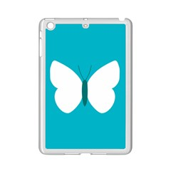 Little Butterfly Illustrations Animals Blue White Fly Ipad Mini 2 Enamel Coated Cases