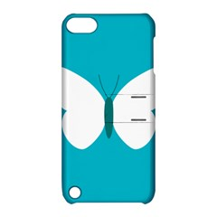 Little Butterfly Illustrations Animals Blue White Fly Apple Ipod Touch 5 Hardshell Case With Stand by Alisyart