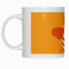 Littlebutterfly Illustrations Bee Wasp Animals Orange Honny White Mugs