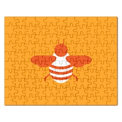 Littlebutterfly Illustrations Bee Wasp Animals Orange Honny Rectangular Jigsaw Puzzl