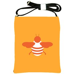 Littlebutterfly Illustrations Bee Wasp Animals Orange Honny Shoulder Sling Bags
