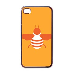 Littlebutterfly Illustrations Bee Wasp Animals Orange Honny Apple Iphone 4 Case (black) by Alisyart