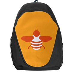 Littlebutterfly Illustrations Bee Wasp Animals Orange Honny Backpack Bag
