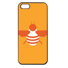 Littlebutterfly Illustrations Bee Wasp Animals Orange Honny Apple Iphone 5 Seamless Case (black)