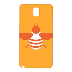 Littlebutterfly Illustrations Bee Wasp Animals Orange Honny Samsung Galaxy Note 3 N9005 Hardshell Back Case by Alisyart