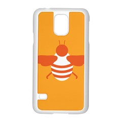 Littlebutterfly Illustrations Bee Wasp Animals Orange Honny Samsung Galaxy S5 Case (white)