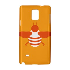 Littlebutterfly Illustrations Bee Wasp Animals Orange Honny Samsung Galaxy Note 4 Hardshell Case