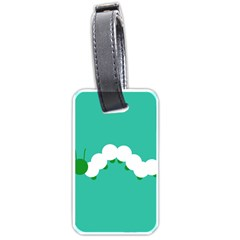 Little Butterfly Illustrations Caterpillar Green White Animals Luggage Tags (one Side)