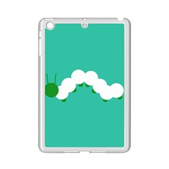 Little Butterfly Illustrations Caterpillar Green White Animals Ipad Mini 2 Enamel Coated Cases