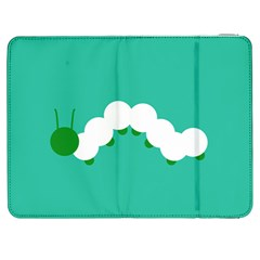 Little Butterfly Illustrations Caterpillar Green White Animals Samsung Galaxy Tab 7  P1000 Flip Case