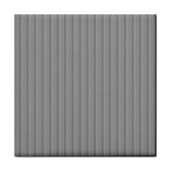 Metal Dark Grey Tile Coasters