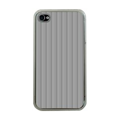 Metal Dark Grey Apple Iphone 4 Case (clear)