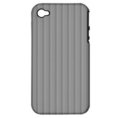 Metal Dark Grey Apple Iphone 4/4s Hardshell Case (pc+silicone)