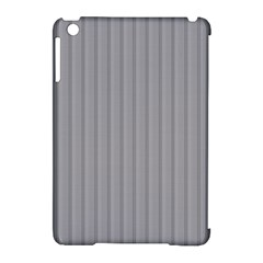 Metal Dark Grey Apple Ipad Mini Hardshell Case (compatible With Smart Cover) by Alisyart