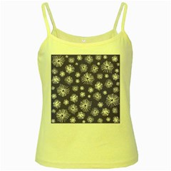 Aztec Lilac Love Lies Flower Blue Yellow Spaghetti Tank by Alisyart