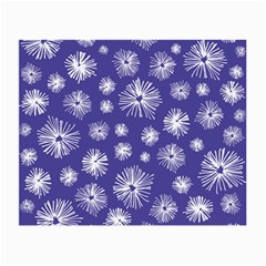 Aztec Lilac Love Lies Flower Blue Small Glasses Cloth (2 Side) by Alisyart