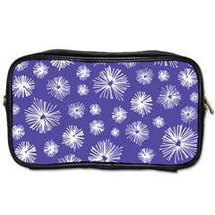 Aztec Lilac Love Lies Flower Blue Toiletries Bags