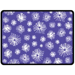 Aztec Lilac Love Lies Flower Blue Fleece Blanket (large)