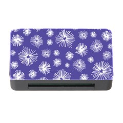 Aztec Lilac Love Lies Flower Blue Memory Card Reader With Cf by Alisyart