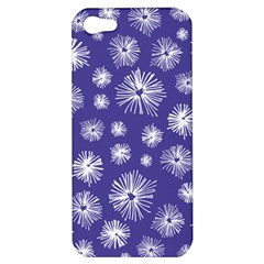 Aztec Lilac Love Lies Flower Blue Apple Iphone 5 Hardshell Case