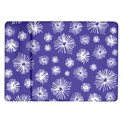 Aztec Lilac Love Lies Flower Blue Samsung Galaxy Tab 10 1  P7500 Flip Case