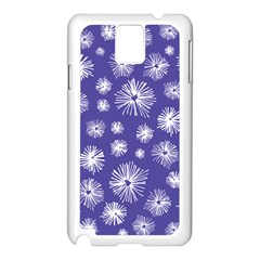 Aztec Lilac Love Lies Flower Blue Samsung Galaxy Note 3 N9005 Case (white) by Alisyart
