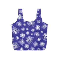 Aztec Lilac Love Lies Flower Blue Full Print Recycle Bags (s)  by Alisyart