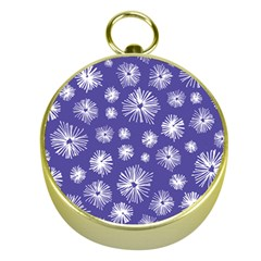 Aztec Lilac Love Lies Flower Blue Gold Compasses