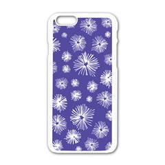 Aztec Lilac Love Lies Flower Blue Apple Iphone 6/6s White Enamel Case by Alisyart