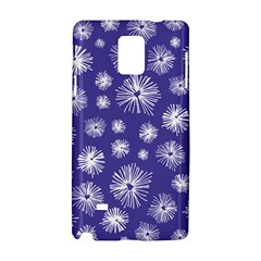 Aztec Lilac Love Lies Flower Blue Samsung Galaxy Note 4 Hardshell Case by Alisyart