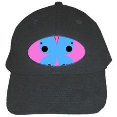 Pink Blue Butterfly Animals Fly Black Cap by Alisyart