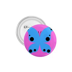 Pink Blue Butterfly Animals Fly 1 75  Buttons by Alisyart