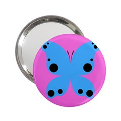 Pink Blue Butterfly Animals Fly 2 25  Handbag Mirrors